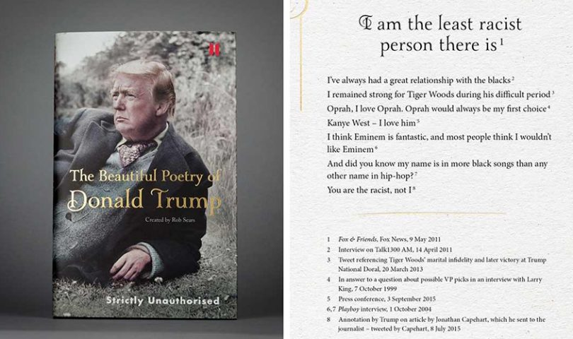Meet the book rearranging Trump's best/worst quotes into poetry