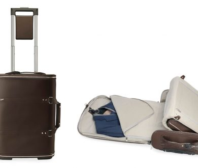 Vocier F38 brown leather luggage