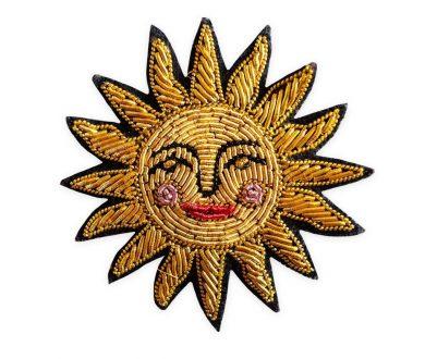 Georgia Perry embroidered bullion pin