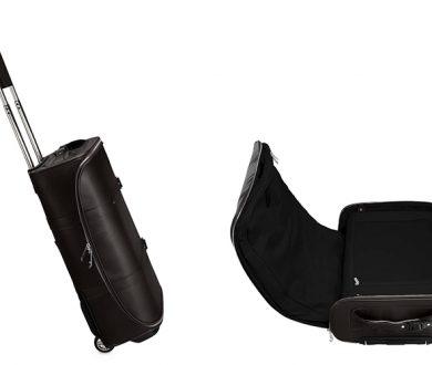 Vocier F38 Black Leather Luggage