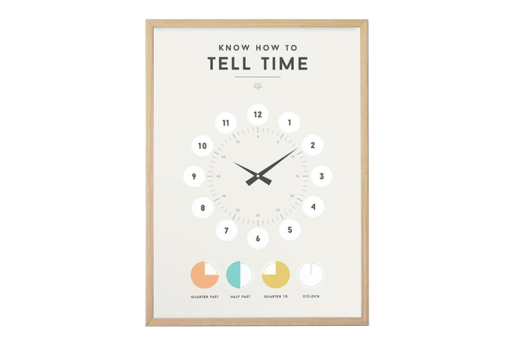 Tell time poster for kids