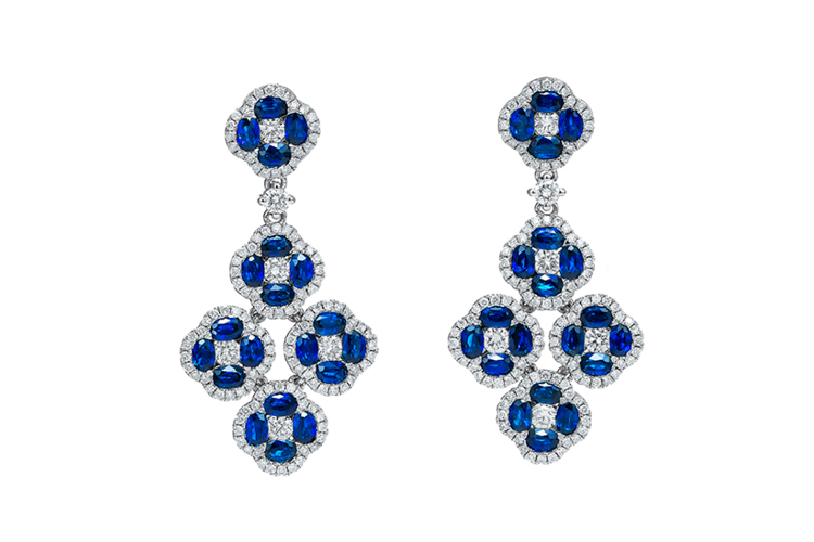Sapphire Chandelier Earrings
