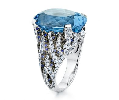 The Ice Queen Glacier Aquamarine ring