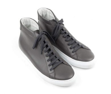 Grey Calf Leather mid sneaker