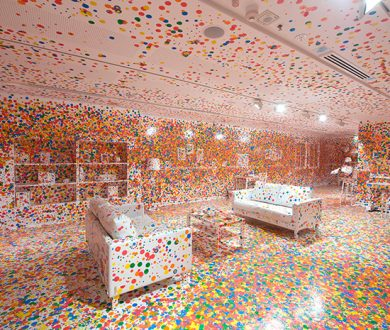 Yayoi Kusama's 'Obliteration Room' is about to open at the Auckland Art Gallery