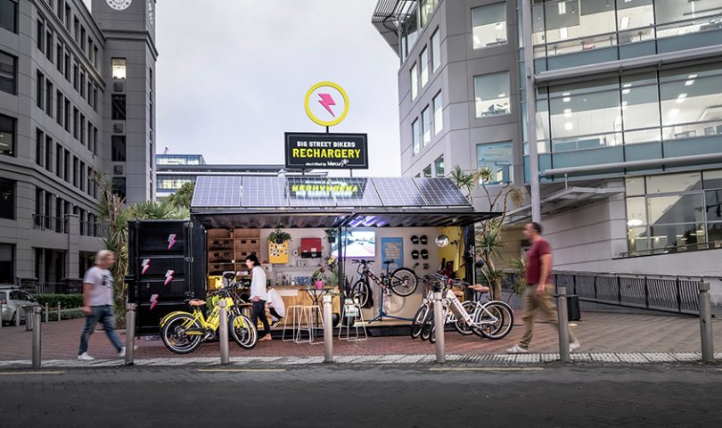 Auckland's first e-bike rechargery has opened in Viaduct Harbour