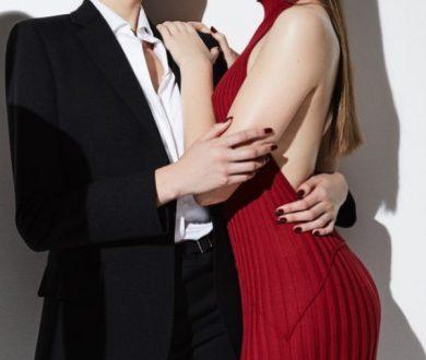 Sforza cashmere and silk halter dress