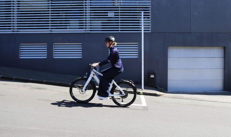 Sweet wheels; a Denizen staffer takes the Stromer ST1X e-bike for a spin