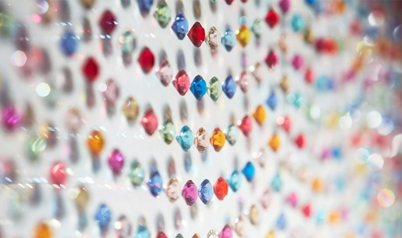 Video: An exclusive look at Max Patte's new artwork, created using 7,000 Swarovski crystals
