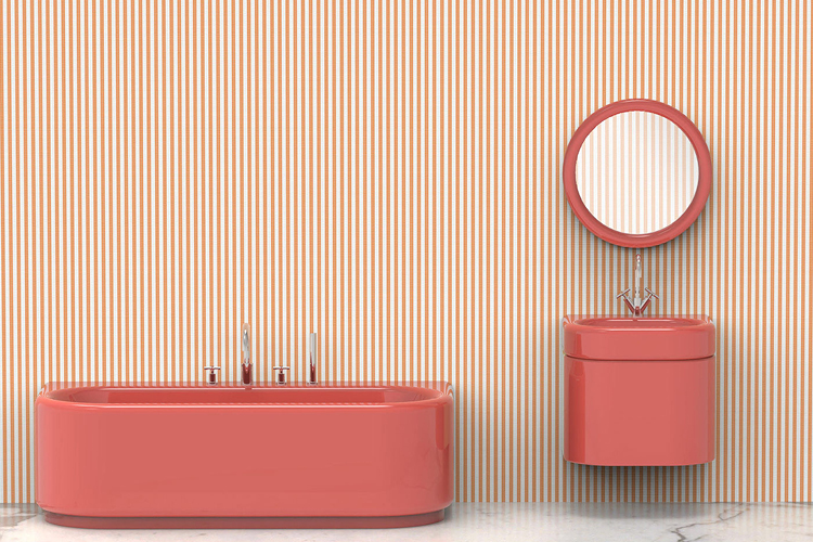 Pinstripe bathroom collection by India Mahdavi for Bisazza