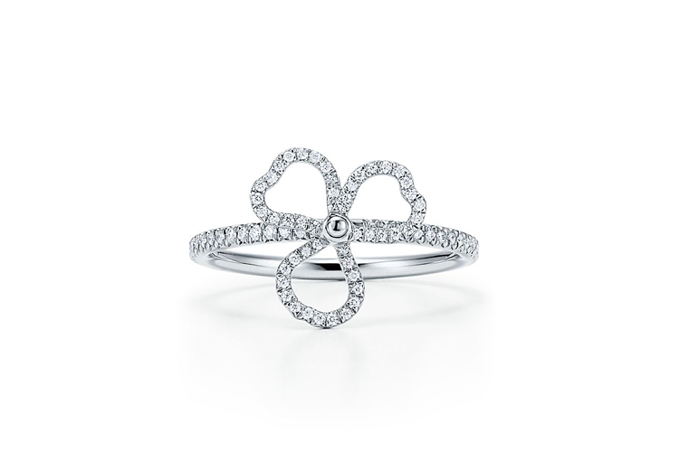Tiffany & Co. Diamond open flower ring