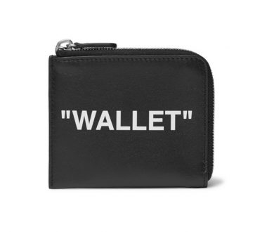 OFF-WHITE Printed Leather Zip-Around Wallet