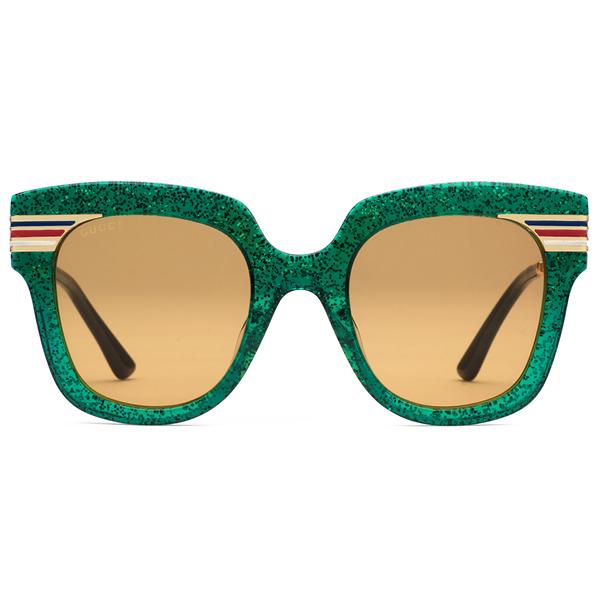 Gucci square frame glitter sunglasses