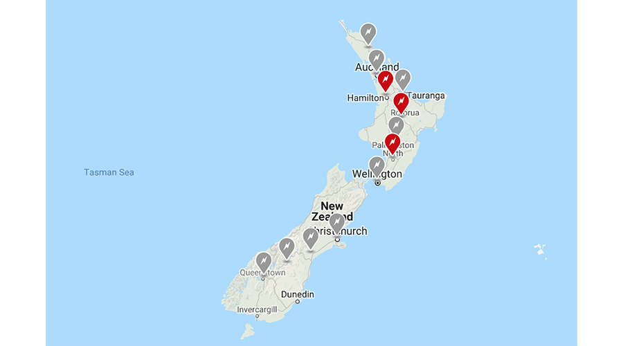 Tesla Charging Stations Map >> Tesla Announces A Huge Expansion To Its Nz Supercharger
