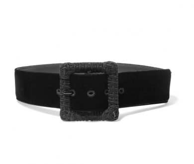 Saint Laurent velvet waist belt