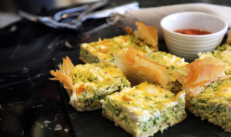 Denizen in the Kitchen with F&P: Zucchini and goat's cheese tart