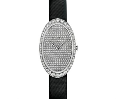 Tiffany cocktail 2-hand pavé watch