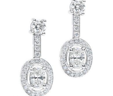 Oval Occasion diamond earrings