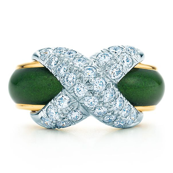 Tiffany Schlumberger Pavé X ring