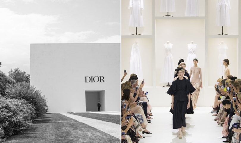 Christian Dior's Fall 2018 Couture show was a study in quiet perfection