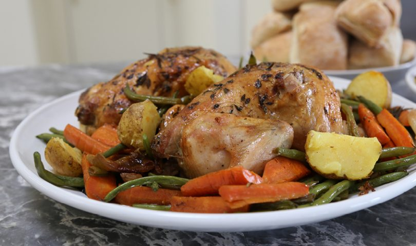Denizen in the kitchen with F&P: Classic roast chicken lunch