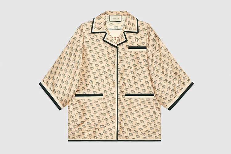 Gucci stamp silk shirt