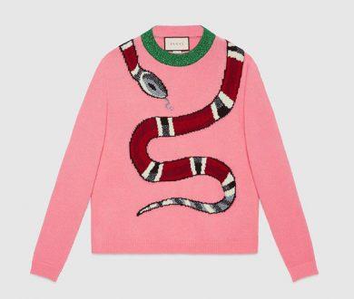 Kingsnake wool knit sweater