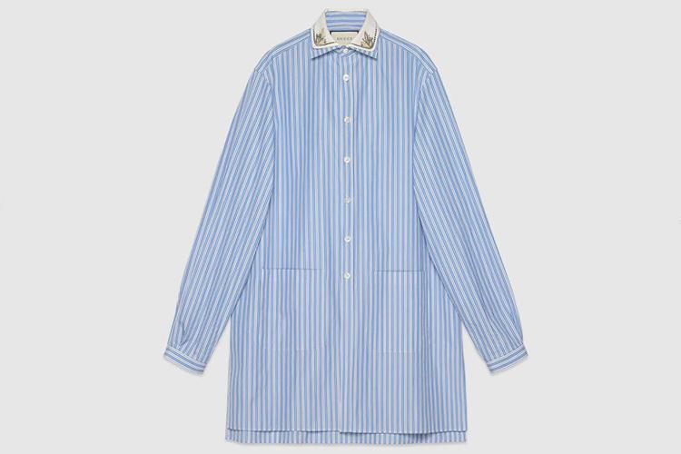 Striped oversize cotton shirt