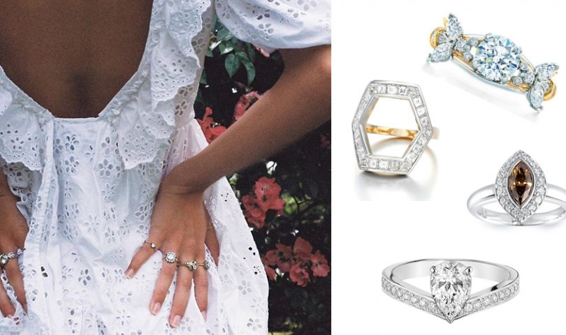 18 unique engagement rings that go beyond the typical diamond solitaire