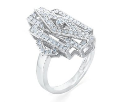 Vienna Star art deco diamond ring