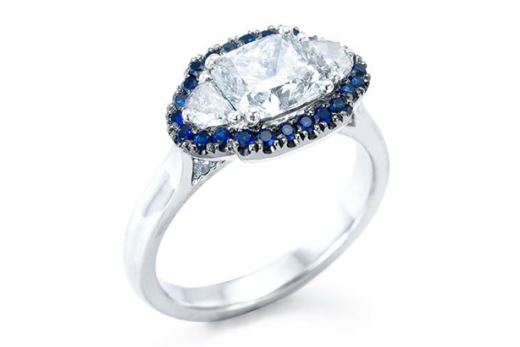 The Larius sapphire and diamond ring