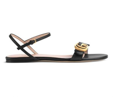 Leather double G sandal