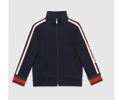 Children's sweatshirt with Gucci Jacquard Trim