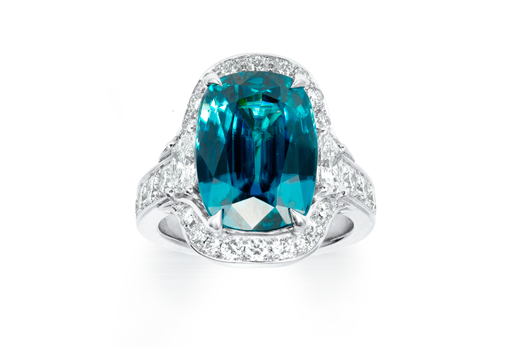Zircon and trapezoid ring