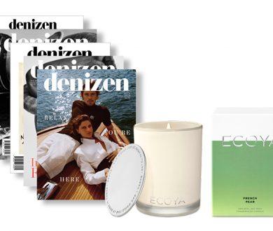Denizen Magazine Christmas subscription with ECOYA candle gift