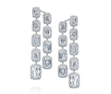 ASHOKA® halo surround diamond drop earrings