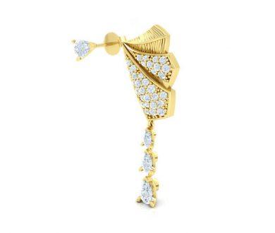Duet and Fly Diamond Earrings