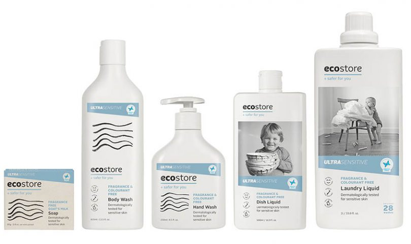 Breathe freely with Ecostore's ultra-sensitive cleaning and skincare range