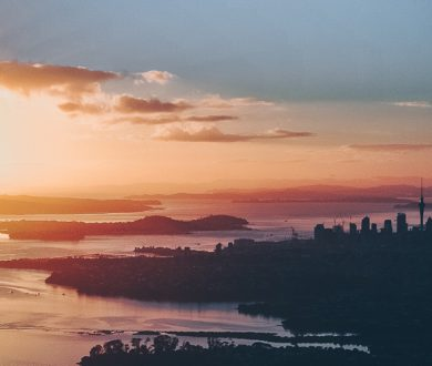 Win a romantic sunset helicopter flight over Auckland's beautiful cityscape