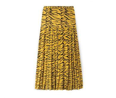 Tina mustard tiger skirt