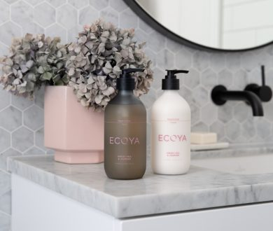 Ecoya's new Bodycare bottle design is the perfect addition to your countertop