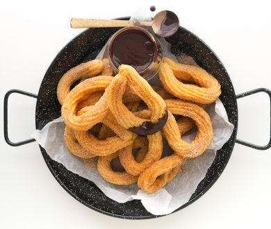 The only recipe you need to create fried, cinnamon sugar-coated churros with chocolate sauce at home