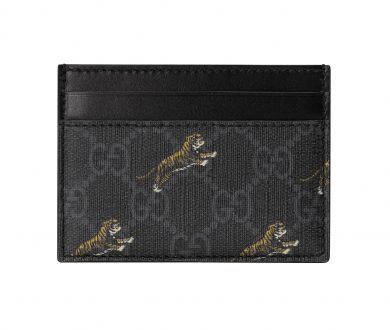 GG Card Case with Tiger Print