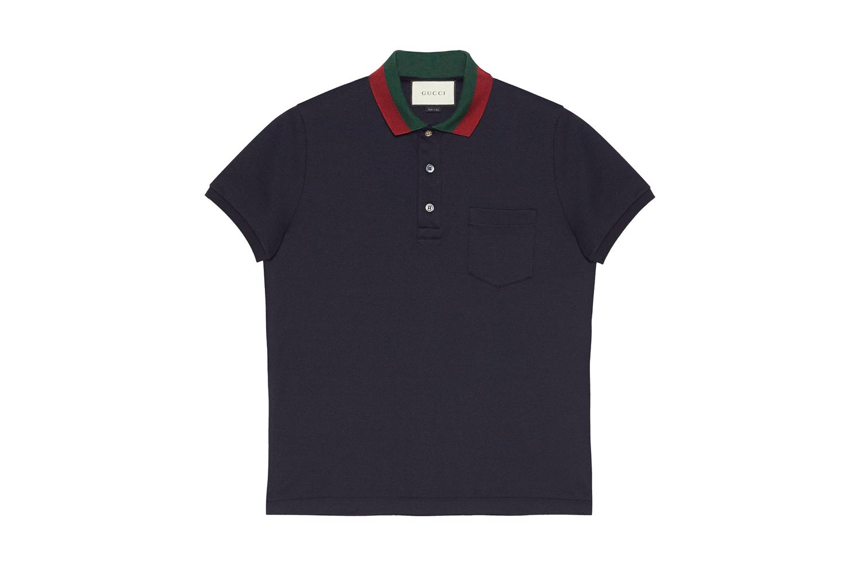 Cotton Polo with Web Collar