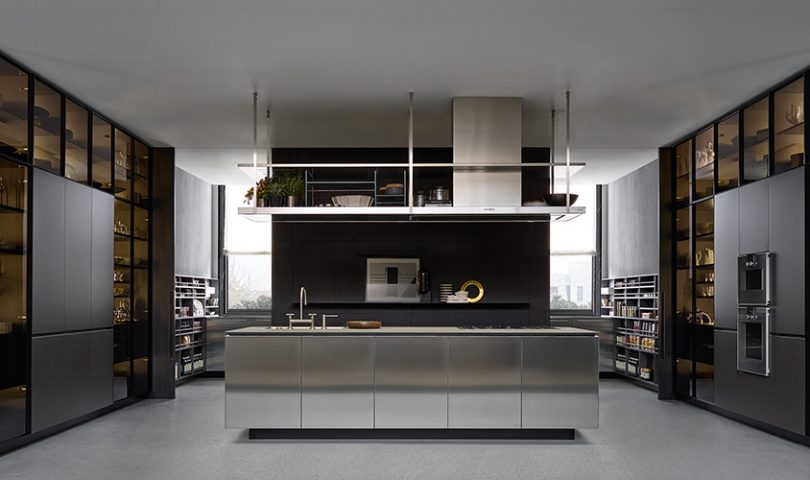 This alluring kitchen is delivering a masterclass in refined, contemporary design