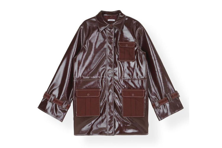 Ganni Patent jacket