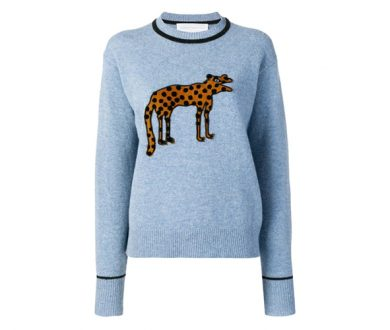 Victoria by Victoria Beckham Creature embroidered sweater