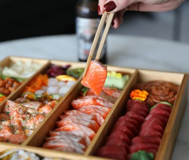 With party season on the horizon, this sashimi catering box is exactly what you need