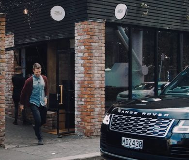 We take Allbirds' Tim Brown for a spin in Range Rover's new plug-in hybrid electric vehicle