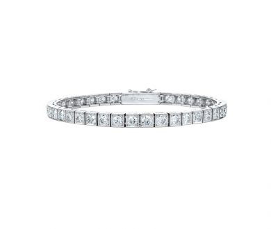 Grain Set Diamond Line Bracelet